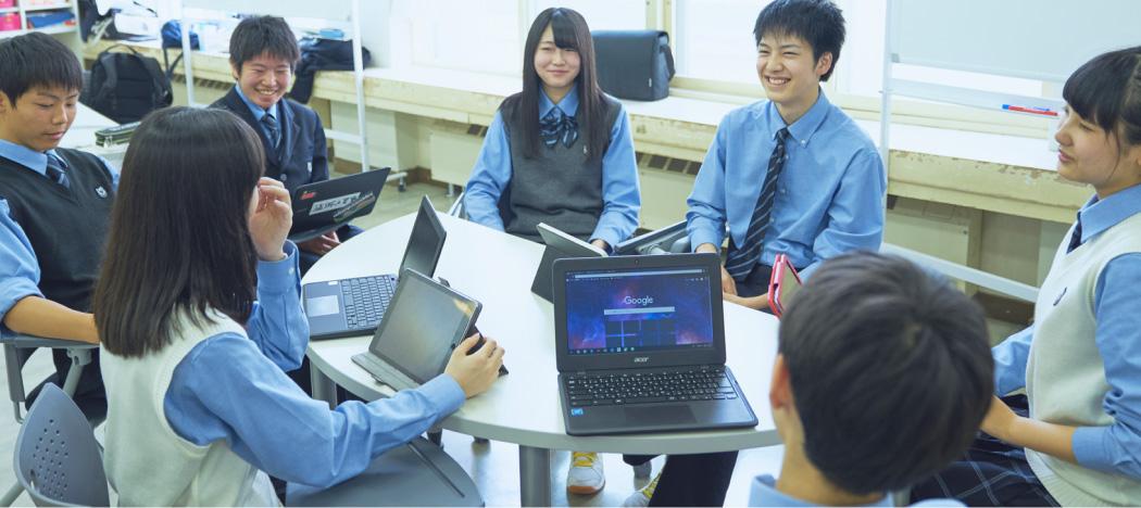 【写真】全生徒にパソコン・タブレットをプレゼント!